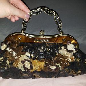 Authentic 1960's Vintage Bag with Floral Design